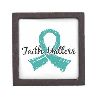 La fe importa el cáncer ovárico 5 caja de recuerdo de calidad