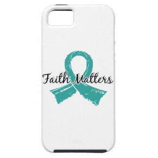 La fe importa el cáncer ovárico 5 funda para iPhone SE/5/5s