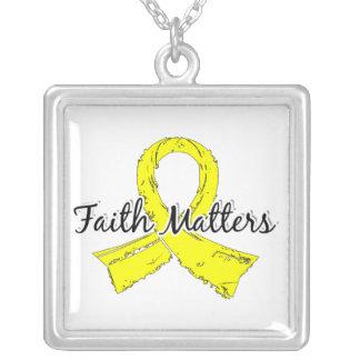 La fe importa el cáncer testicular 5 colgante cuadrado
