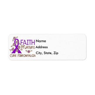 La fe importa el Fibromyalgia 3 Etiqueta De Remitente