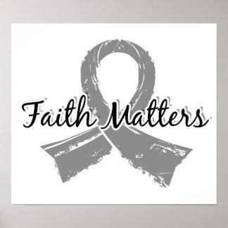 La fe importa el tumor cerebral 5 póster