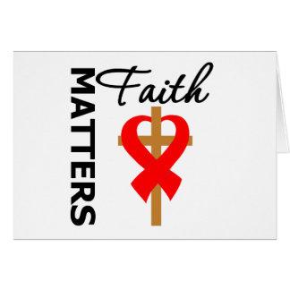 La fe importa enfermedad cardíaca tarjeta de felicitación