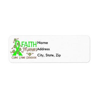 La fe importa enfermedad de 3 Lyme Etiqueta De Remite