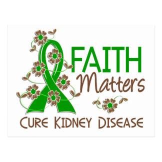 La fe importa enfermedad de riñón 3 tarjeta postal