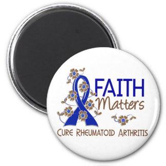 La fe importa la artritis reumatoide 3 imán redondo 5 cm
