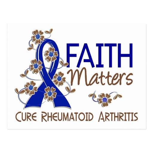 La fe importa la artritis reumatoide 3 tarjeta postal