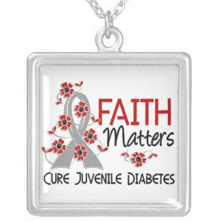 La fe importa la diabetes juvenil 3 colgante cuadrado