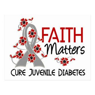 La fe importa la diabetes juvenil 3 postal