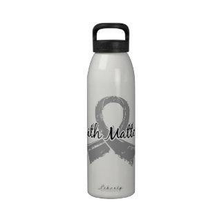 La fe importa la diabetes juvenil 5 botella de agua