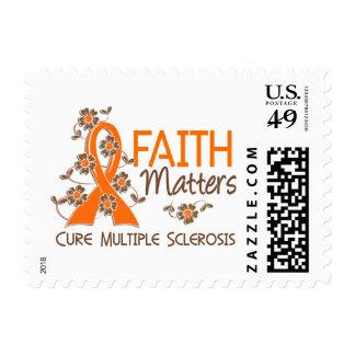 La fe importa la esclerosis múltiple 3 timbre postal
