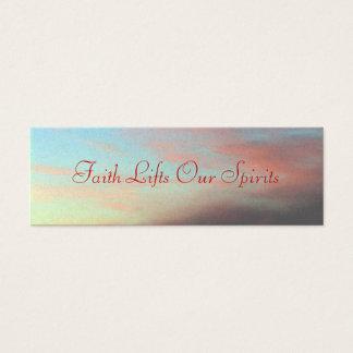 La fe levanta nuestras bebidas espirituosas tarjetas de visita mini