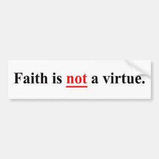 La fe no es una virtud pegatina para coche