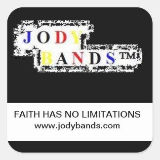 La fe no tiene ninguna limitación pegatina cuadrada