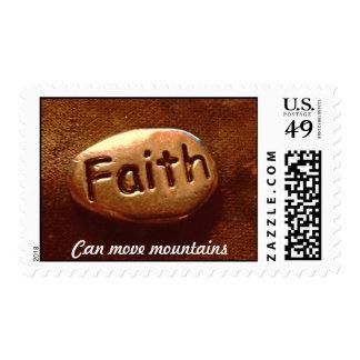 La fe puede mover las montañas estampilla