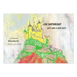 La fecha del juego del castillo invita con la tarjetas de visita grandes