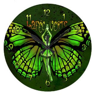 La Fee Verte Wings Outspread Large Clock