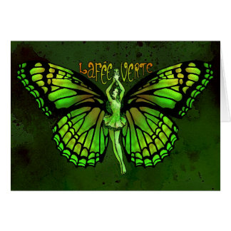 La Fee Verte With Wings Outspread Greeting Card