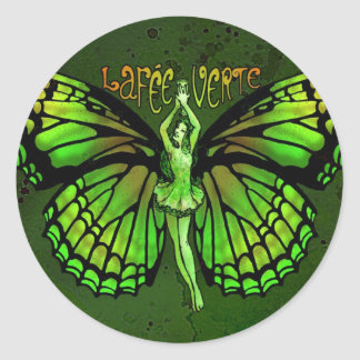 La Fee Verte With Wings Outspread Classic Round Sticker