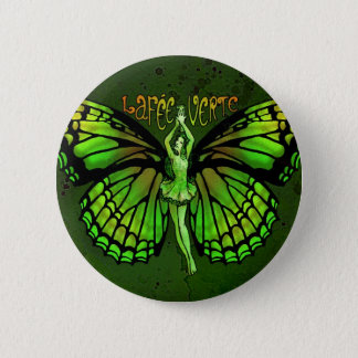 La Fee Verte With Wings Outspread Pinback Button