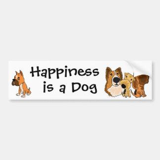 La felicidad AJ es pegatina para el parachoques de Pegatina Para Auto