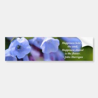 La felicidad compartida es una flor pegatina para auto