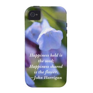 La felicidad compartida es una flor iPhone 4 carcasa
