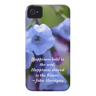 La felicidad compartida es una flor iPhone 4 carcasas