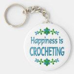 La felicidad Crocheting Llaveros Personalizados