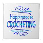 La felicidad Crocheting Teja