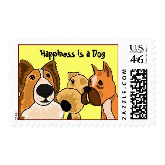 La felicidad del BI es sellos de un perro