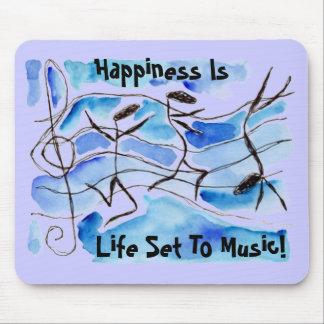 ¡La felicidad del movimiento de las notas musicale Tapetes De Raton
