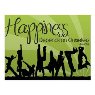La felicidad depende postal inspirada