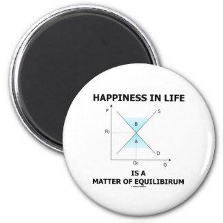 La felicidad en vida es una cuestión de equilibrio imán redondo 5 cm