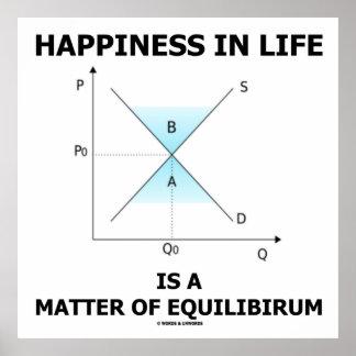 La felicidad en vida es una cuestión de equilibrio poster
