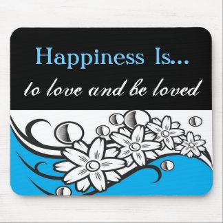 La felicidad es… amor Mousepad Alfombrilla De Raton
