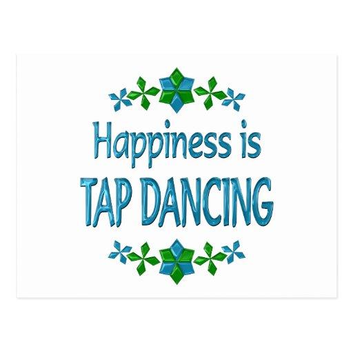 La felicidad es baile de golpecito tarjetas postales
