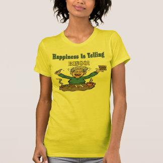 La felicidad es bingo camisetas
