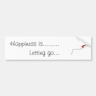 La felicidad es ..... etiqueta de parachoque