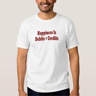 La felicidad es debes = créditos playera