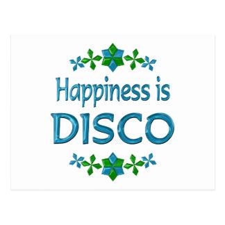 La felicidad es disco tarjetas postales
