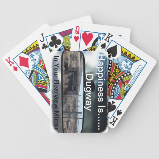 La felicidad es… Dugway en su espejo retrovisor Baraja Cartas De Poker