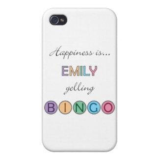 La felicidad es Emily que grita BINGO iPhone 4 Protector