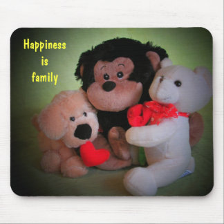 La felicidad es familia tapetes de ratón
