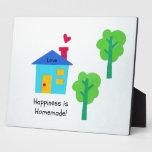 ¡La felicidad es hecha en casa! Placas