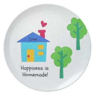 ¡La felicidad es hecha en casa Plato De Comida