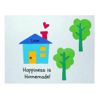 ¡La felicidad es hecha en casa! Tarjetas Postales