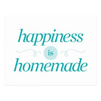 La felicidad es hecha en casa tarjeta postal