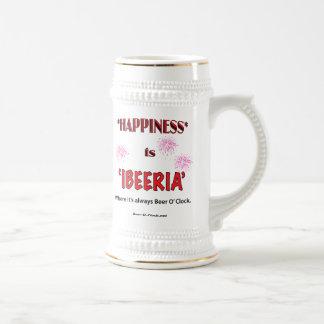 La felicidad es IBEERIA (la taza) Jarra De Cerveza