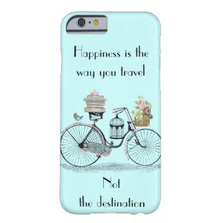 La felicidad es la manera que usted viaja ensenada funda de iPhone 6 barely there