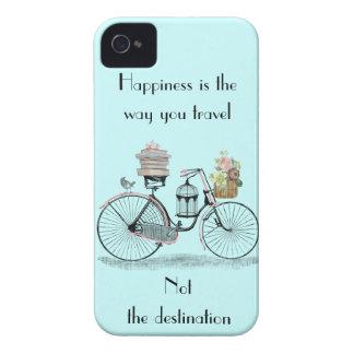 La felicidad es la manera que usted viaja iphone 4 Case-Mate iPhone 4 carcasa